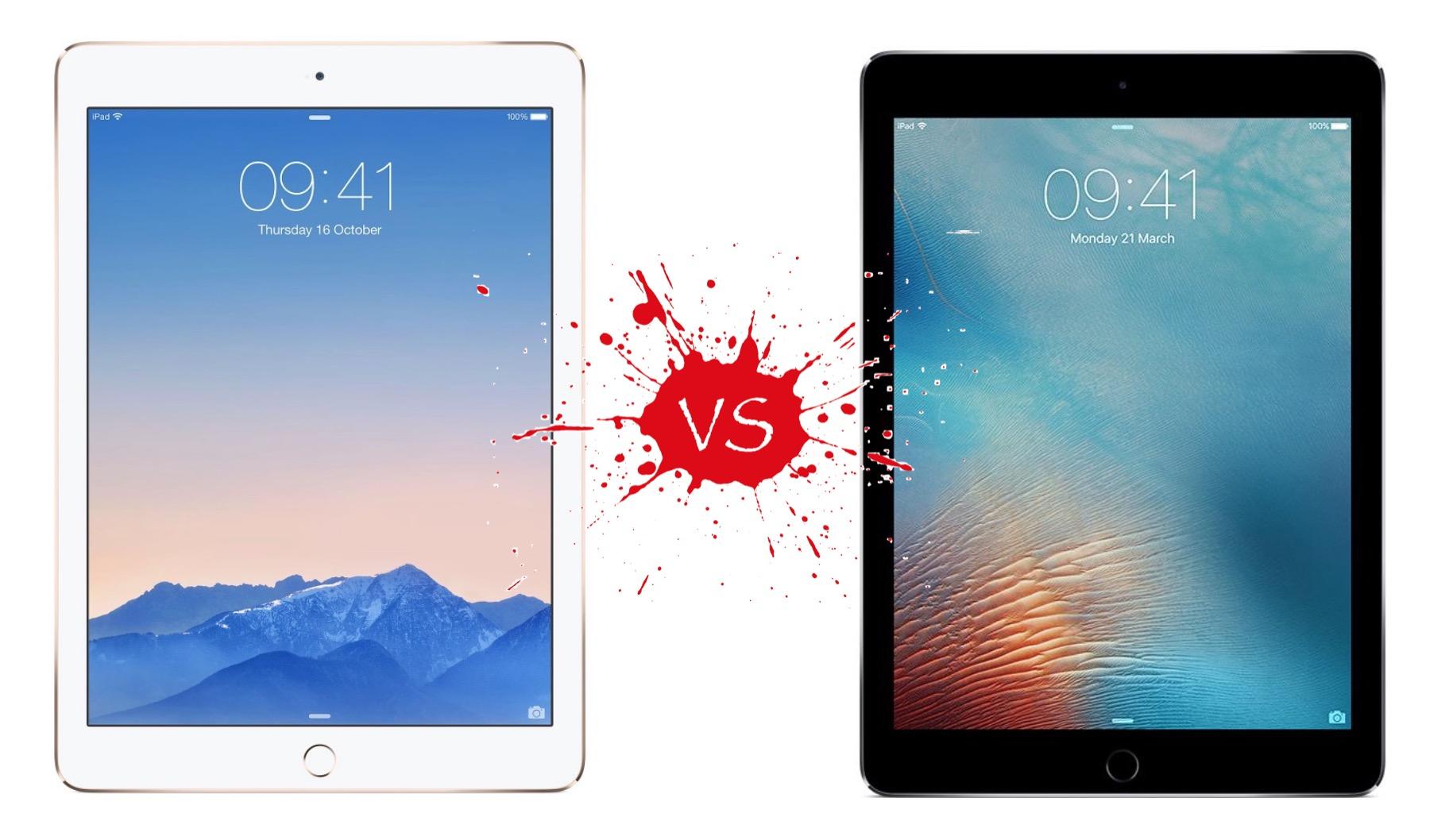 iPad Air 2 vs iPad Pro (9.7 in): Apple ...